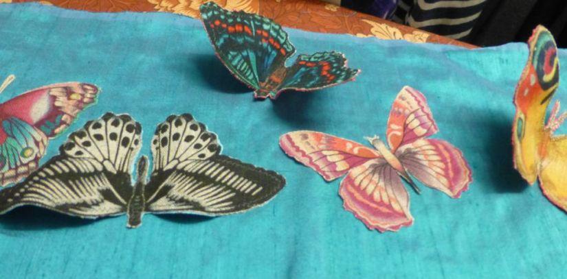 8.Arrange butterflies on fabric