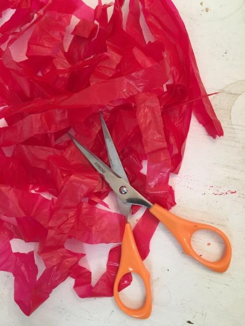 1 cut strips of plastic